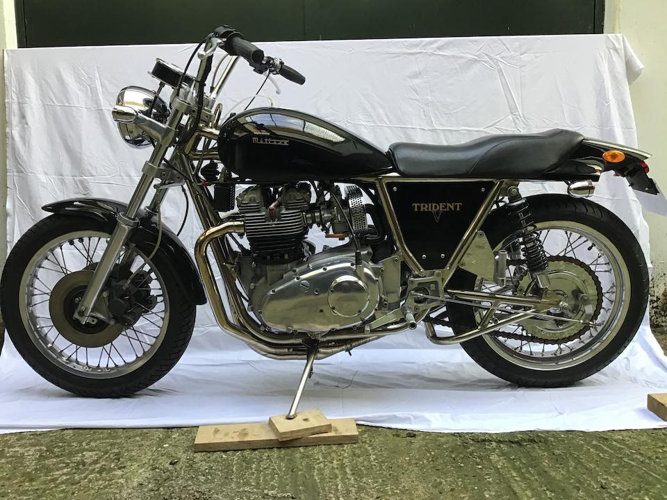 1975 Triumph 850cc T150V Metisse Frame no. MET-02081 Engine no. T150V KK44710