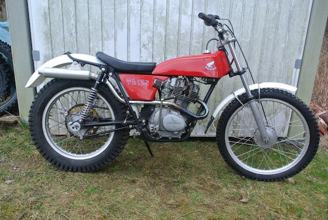 1977 Honda TL125 Trials Motorcycle Frame no. TL125S 1014417 Engine no. TL125SE 1014425