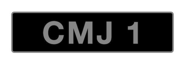 'CMJ 1' - UK vehicle registration number,