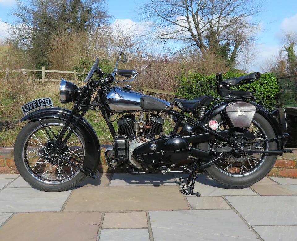 1935 Brough Superior 982cc SS80 Frame no. M8/1535 Engine no. BS/X4 4208