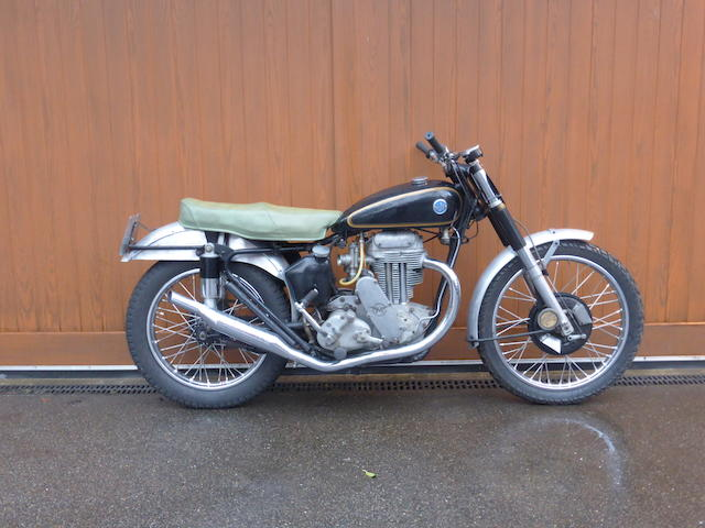 Formerly the property of Derrick Bedwell, 1951 AJS 497cc Model 18CS Scrambler Frame no. 2826 Engine no. 51/18 S 1003 C