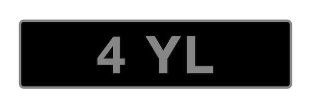 '4 YL' - UK vehicle registration number,