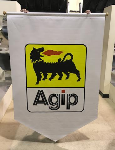 Two AGIP fabric banners  ((2))