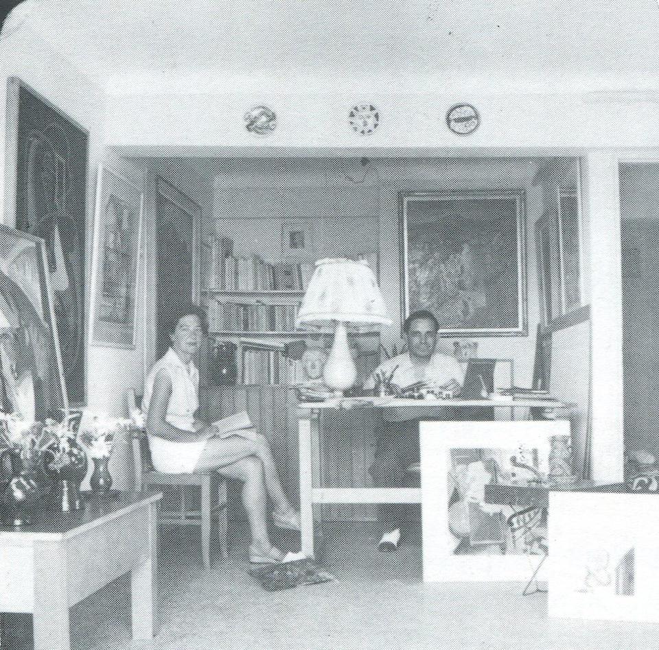 Alecos Condopoulos (Greek, 1905-1975) Interior 46 x 50 cm. (Painted in 1950.)