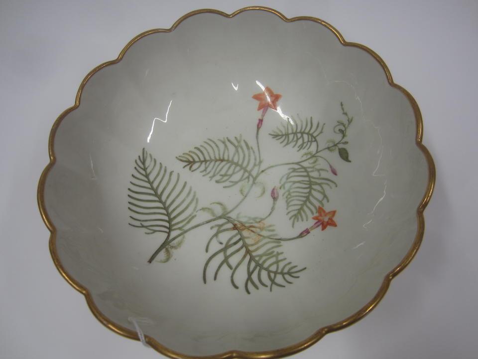 A rare Derby botanical footed bowl Circa 1800