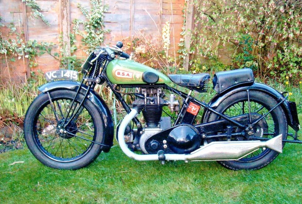 1929 BSA 493cc S29 Twin-Port Lightweight Frame no. H2500 Engine no. K2386
