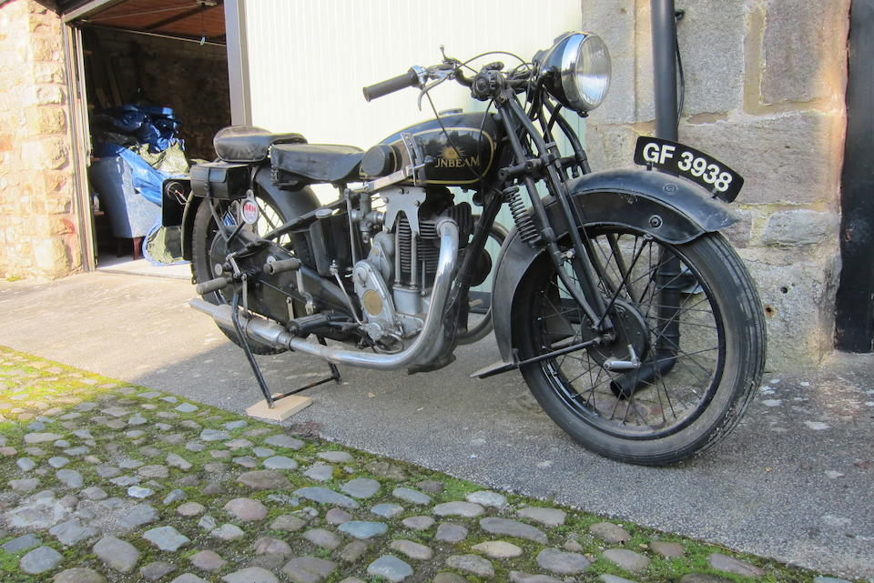 1930 Sunbeam 493cc Model 9 Frame no. D7927 Engine no. LL4501