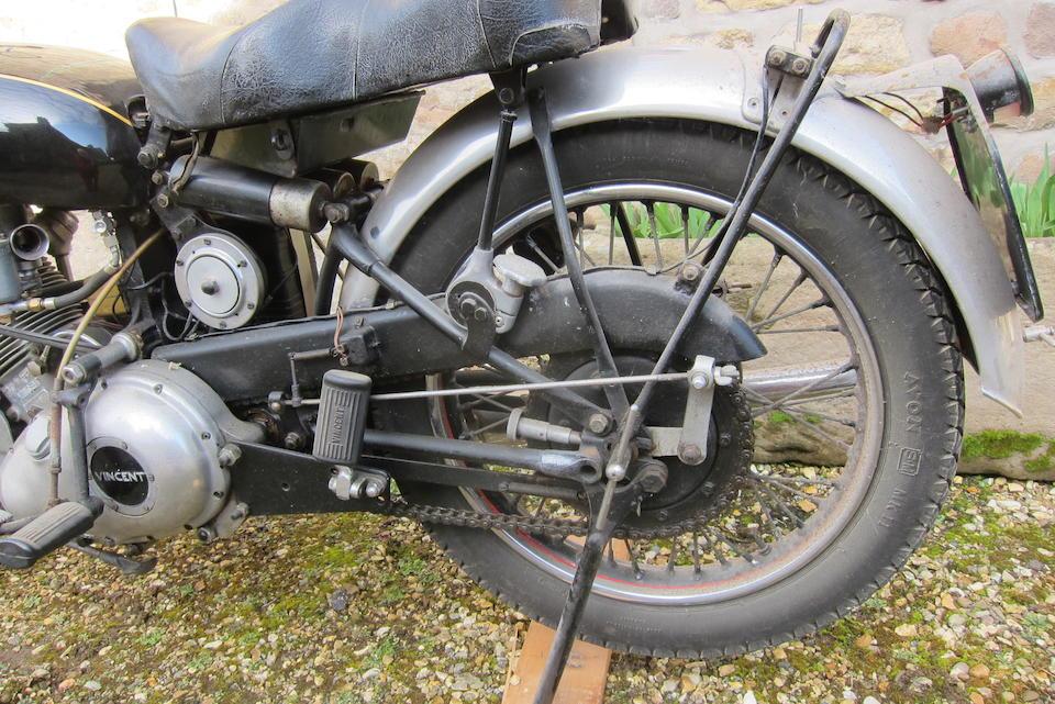1950 Vincent 499cc Comet  Frame no. RC/1/6020 Rear Frame no. RC/1/6020 Engine no. F5AB/2A/4120 Crankcase nos. 32 I / 32 I