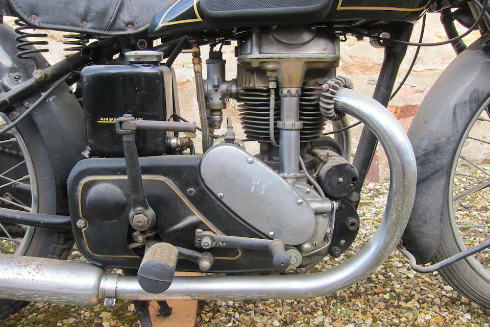c.1939 Rudge Whitworth 499cc 'Ulster' Frame no. not visible Engine no. 6293 (see text)