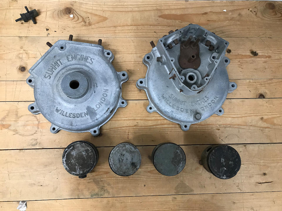 A partially complete and dismantled British Anzani engine  ((Qty))