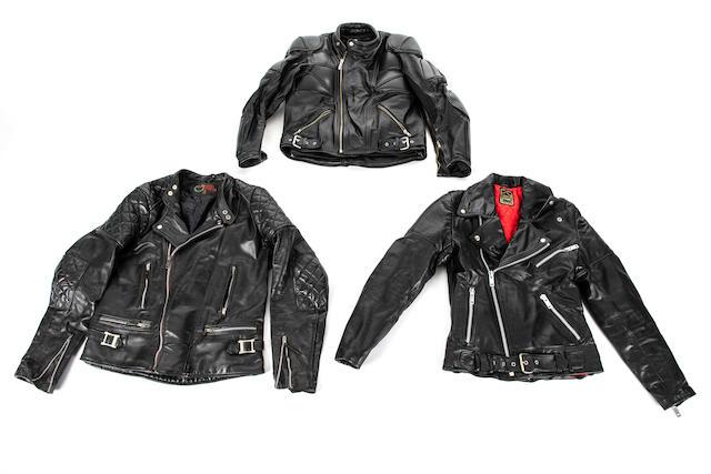 Three leather jackets  ((3))