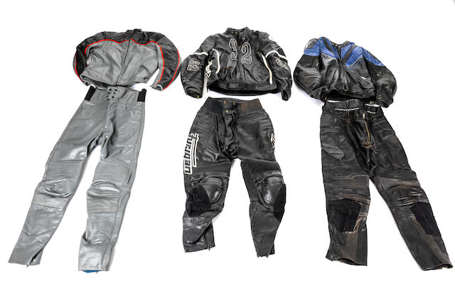 Three sets of two-piece leathers  ((6))