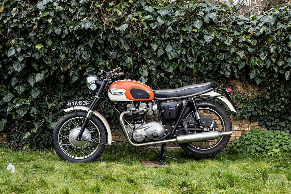 Property of a deceased's estate, 1966 Triumph 649cc T120 Bonneville Frame no. T120 DU43310 Engine no. T120 DU43310
