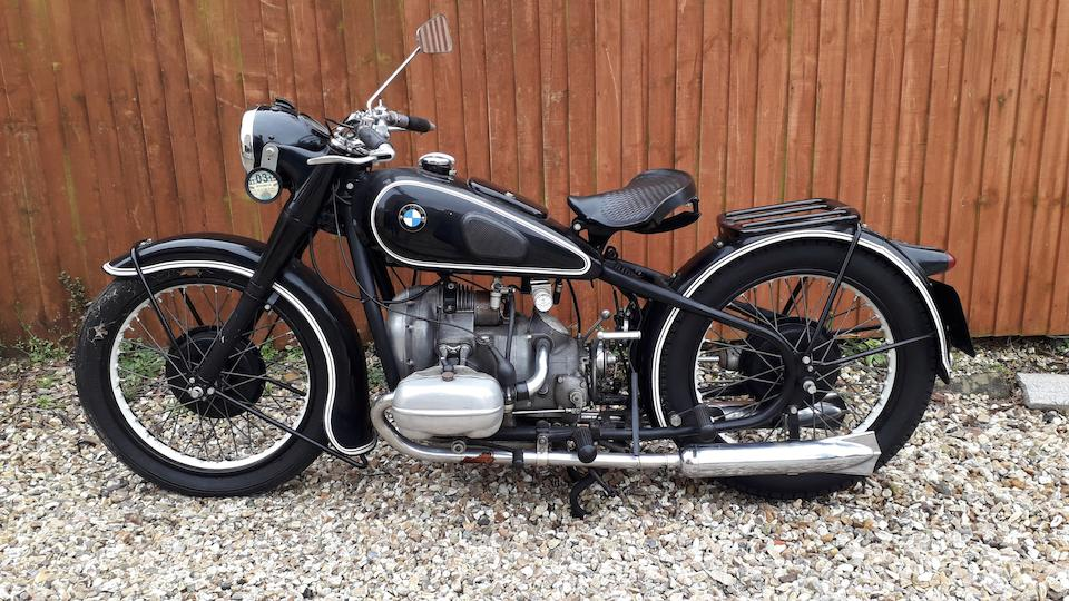 1937 BMW 494cc R5 Frame no. 501571 Engine no. 500678
