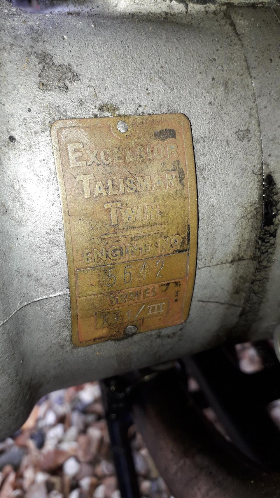 1955 Excelsior 243cc Talisman Twin Frame no. 5PT/134 Engine no. 5642
