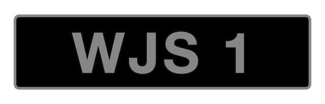 'WJS 1' - UK vehicle registration number,