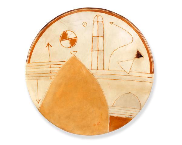 Farid Belkahia (Morocco, born 1934) Étude sur le Malheur  diameter: 77cm
