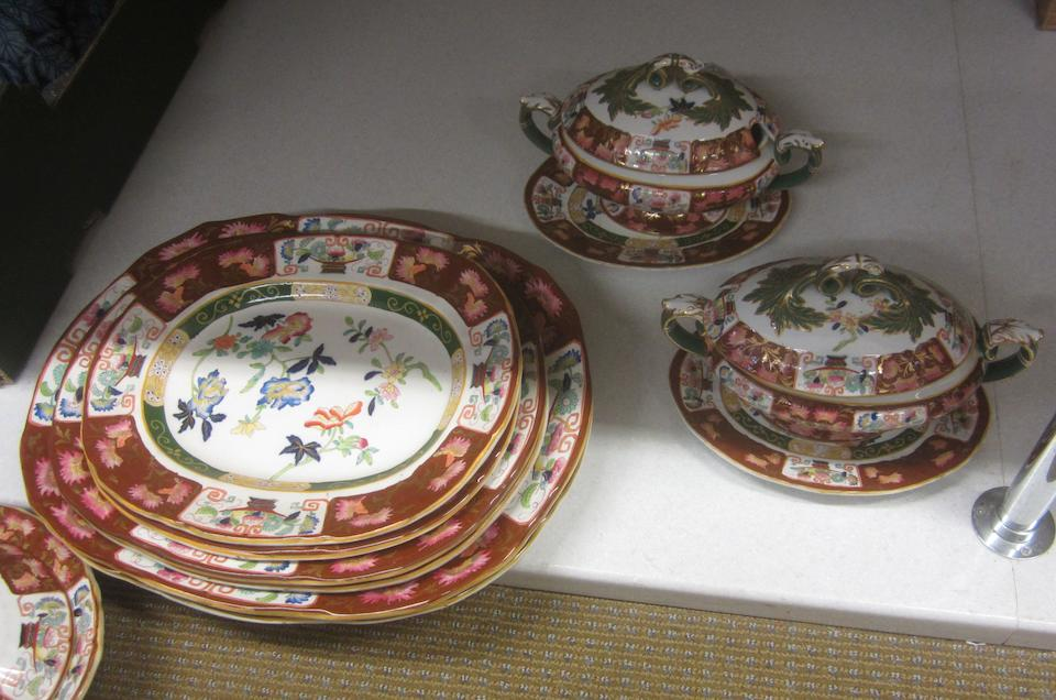 An extensive Ashworth ironstone dinner service Circa 1880