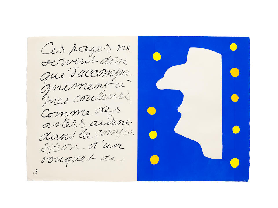 Henri Matisse (1869-1954) Jazz, Tériade, Paris, 1947 the set of 20 pochoirs in colours, 1947,