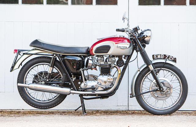 Property of a deceased's estate, 1968 Triumph 649cc T120 Bonneville Frame no. T120 DU83246 Engine no. T120 DU83246