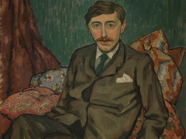 Roger Fry (British, 1866-1934) Portrait of E.M. Forster 73 x 60 cm. (28 1/4 x 23 5/8 in.) (Painted in 1911)