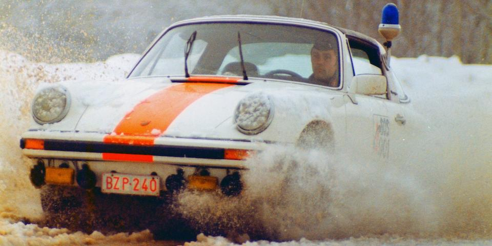 One of a mere 4 survivors,1976 Porsche 911 Carrera 2.7 MFI Targa Belgian Gendarmerie  Chassis no. 9116619025 Engine no. 6668025