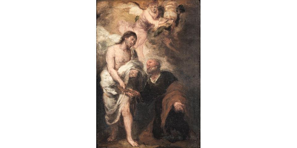Bartolomé Esteban Murillo (Seville 1618-1682) Saint Peter receiving the keys; and The Baptism of Christ  (2)