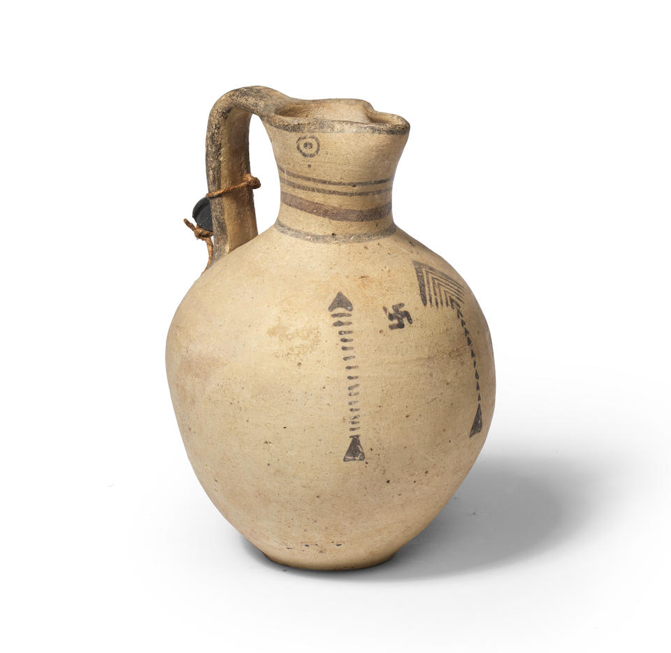 A Cypriot bichrome ware pottery jug