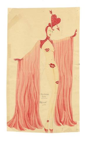 Michael Bronze (British, 1916-1979): Group of five costume designs for Murray's Cabaret Club showgirls, 1955, 5
