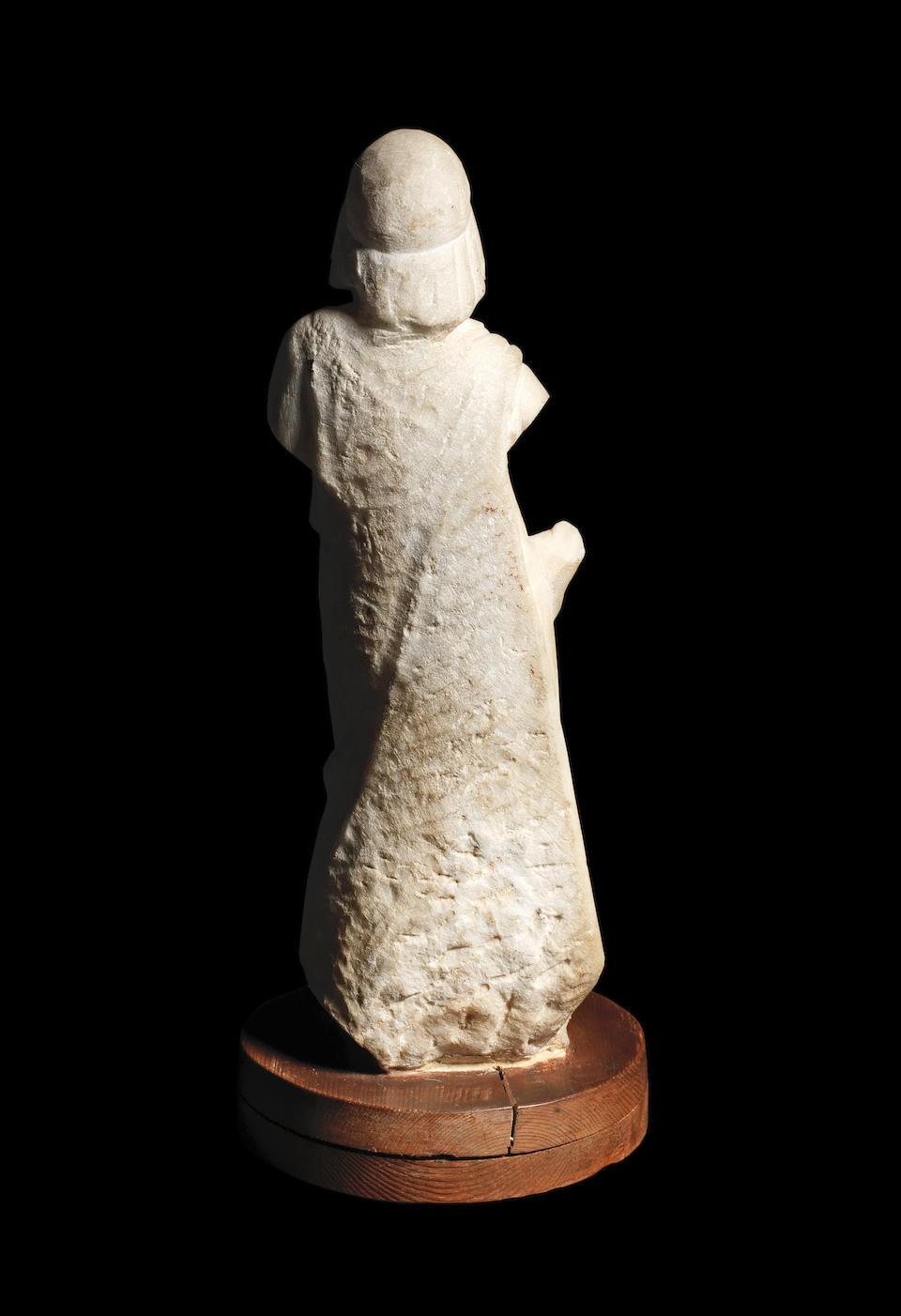 A Greek marble draped female figure