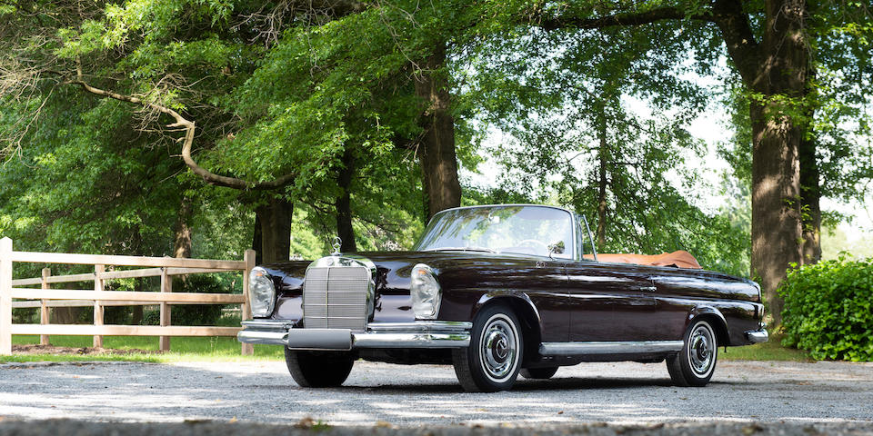 Concours restored, manual 'floor shift' transmission,1963 Mercedes-Benz 220SE Cabriolet  Chassis no. 11102310026971 Engine no. 12798410002986