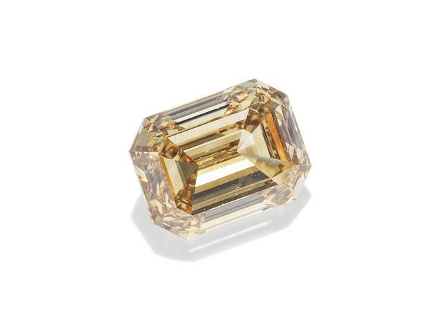 A fancy-coloured single-stone diamond ring