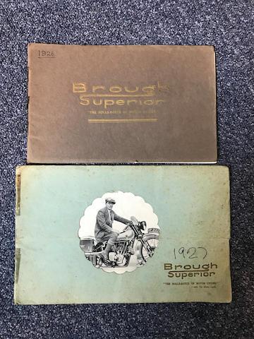 A 1926 Brough Superior range brochure  ((2))
