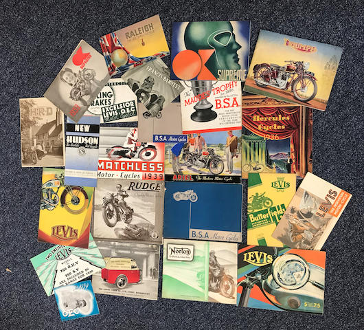 A good selection of sales brochures  ((Qty))