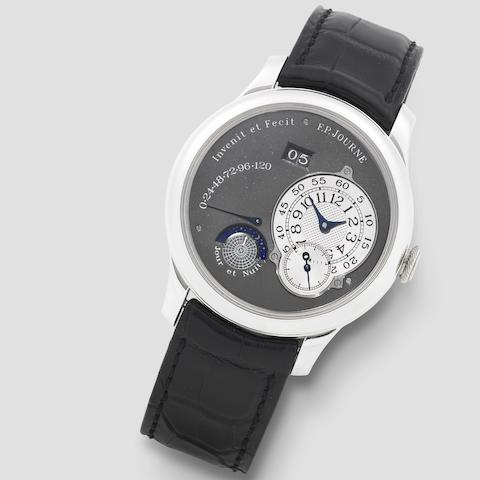 F.P. Journe. A very fine Limited Edition platinum automatic calendar wristwatch with power reserve and day/night indication  Octa Réserve de Marche Jour et Nuit, No.49/99-02, Circa 2003