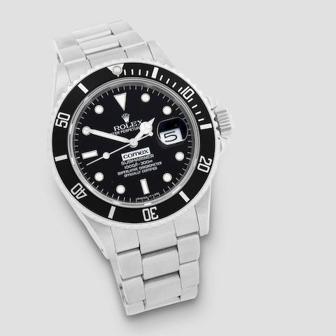 Rolex. A rare stainless steel automatic bracelet watch  Submariner Comex, No.6243, Ref: 16800, Circa 1987