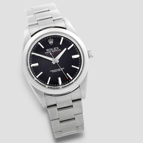 Rolex. A stainless steel automatic antimagnetic bracelet watch  Milgauss, Ref: 1019, Circa 1979