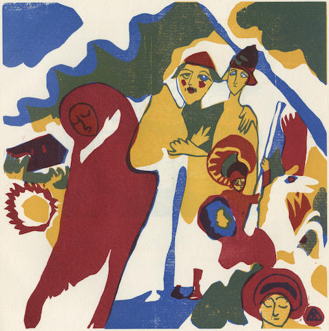 KANDINSKY (WASSILY) Klänge, FIRST EDITION, NUMBER 64 OF 300 COPIES SIGNED BY THE ARTIST, Munich, R. Piper & Co., [1913]