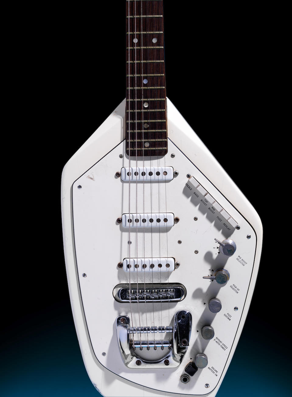 "Joy Division: The Vox Phantom VI Special Guitar Owned By Ian Curtis And Played In The Video For ""Love Will Tear Us Apart"", 1967,"