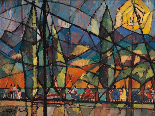 Afewerk Tekle (Ethiopian, 1932-2012) Landscape