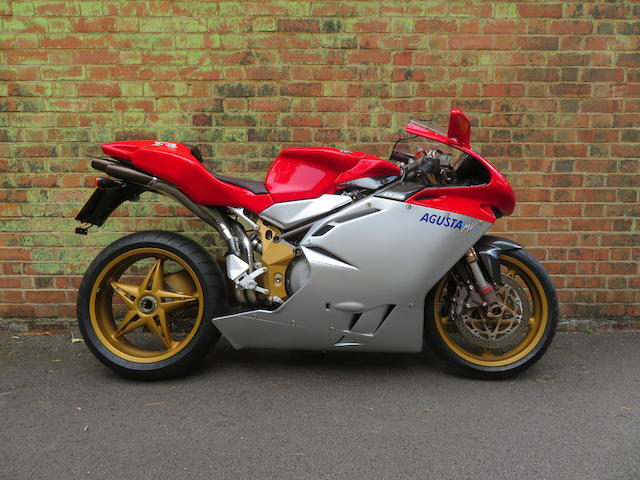 One owner, 124 miles from new, 1999 MV Agusta 750cc F4 'Serie Oro' Frame no. 000168 Engine no. F4AX000213
