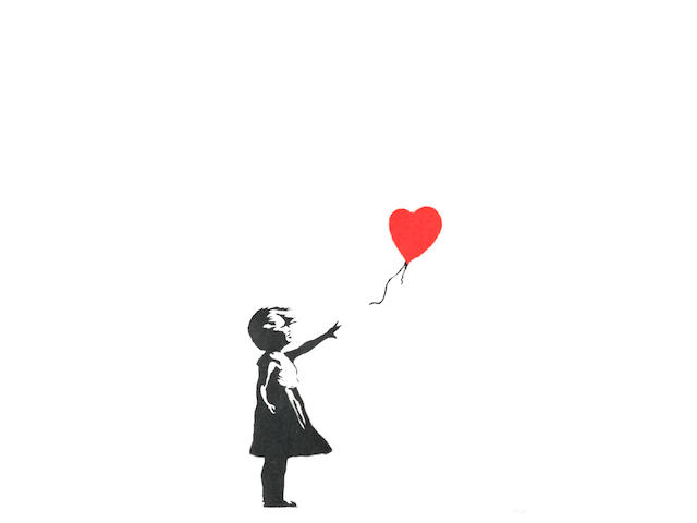BANKSY (born 1975) Girl with Balloon, 2004 (with the publisher's blindstamp, Pictures on Walls, London )