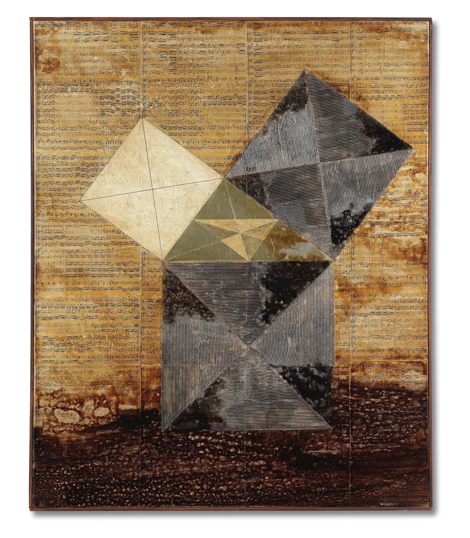 Dmitri Plavinsky (Russian, 1937-2012) Pythagoras's Theorem & Bach