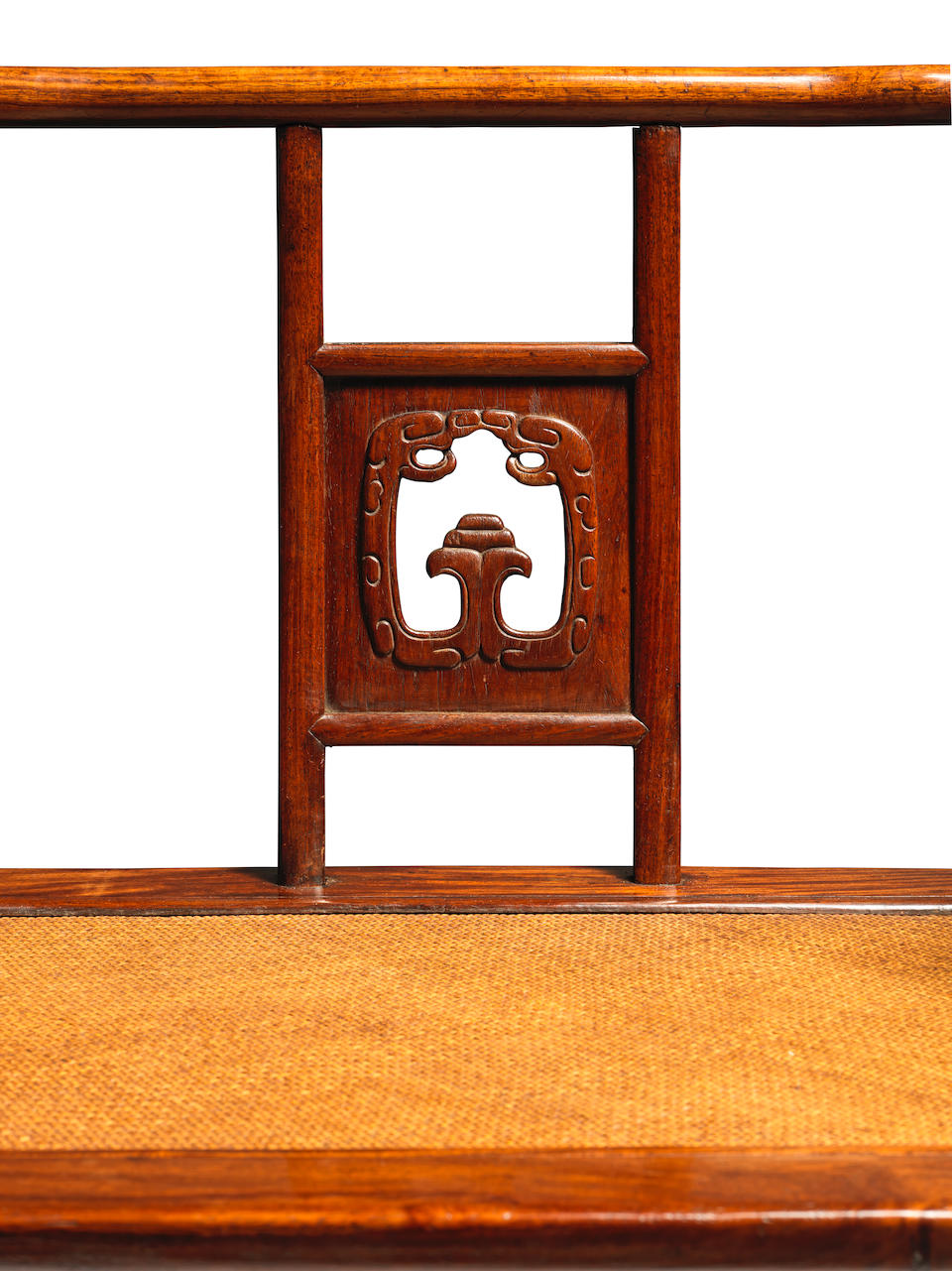 An exceptionally rare huanghuali low-back armchair, meiguiyi 17th century