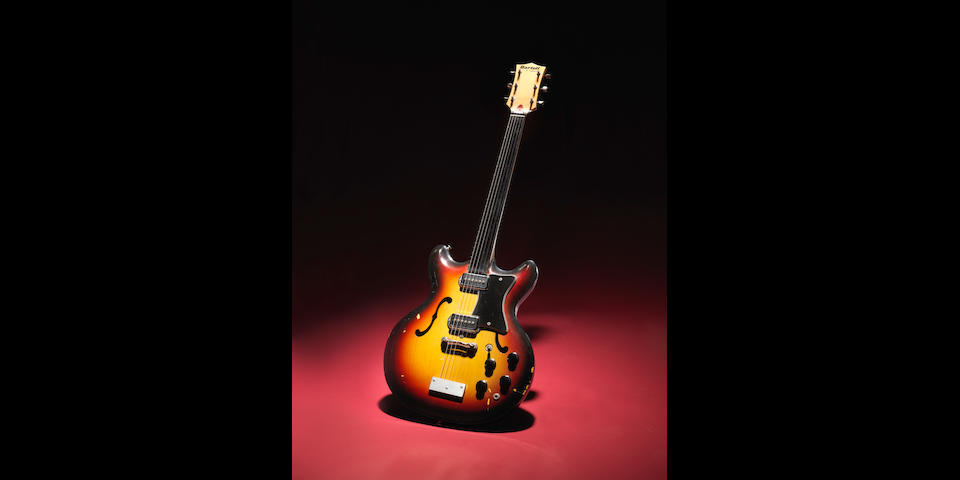 George Harrison: A Rare Bartell Fretless Electric Guitar owned by George Harrison, believed made circa 1967,