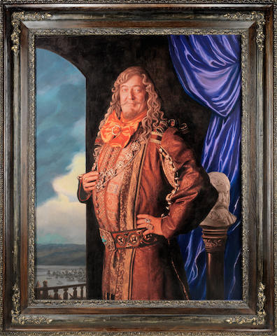 The Hobbit - The Desolation of Smaug: A prop Portrait of Stephen Fry as the 'Master of Laketown', WingNut Films / Warner Bros., 2013,