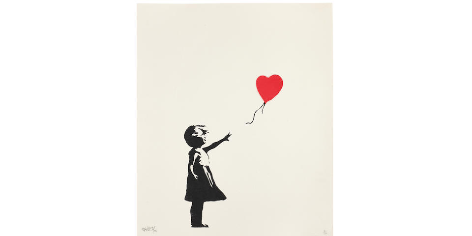BANKSY (born 1975) Girl with Balloon, 2004 (with the publisher's blindstamp, Pictures on Walls, London)
