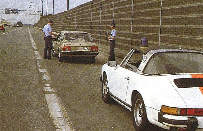 One of 20 special cars ordered by the Belgian Gendarmerie,1976 Porsche 911 2.7 Carrera MFI 'Belgian Gendarmerie' narrow body Targa  Chassis no. 9116619025 Engine no. 6668025