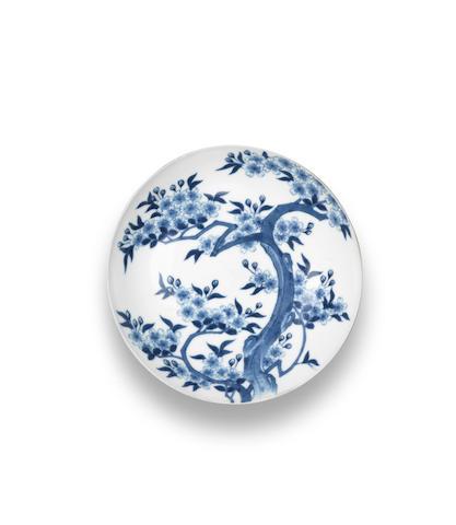 A Nabeshima small blue and white dish  Edo period (1615-1868), 18th century (2)