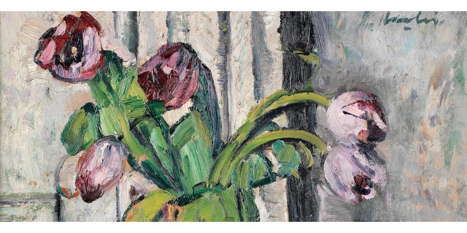 George Leslie Hunter (1877-1931) Purple Tulips 51 x 40.5 cm. (20 x 16 in.)